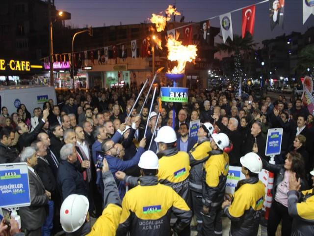 SALİHLİ'DE DOĞAL GAZ SEVİNCİ
