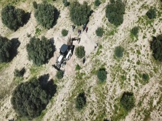 MANİSA'DA DEFİNECİLERE DRONE ENGELİ