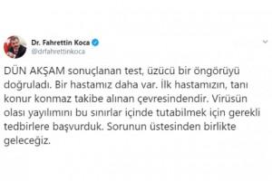 TÜRKİYE'DE 2'NCİ KORONA VAKASI